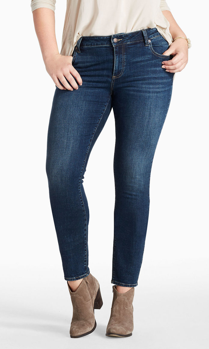 LEE Womens Curvy-Fit Bootcut Jeans