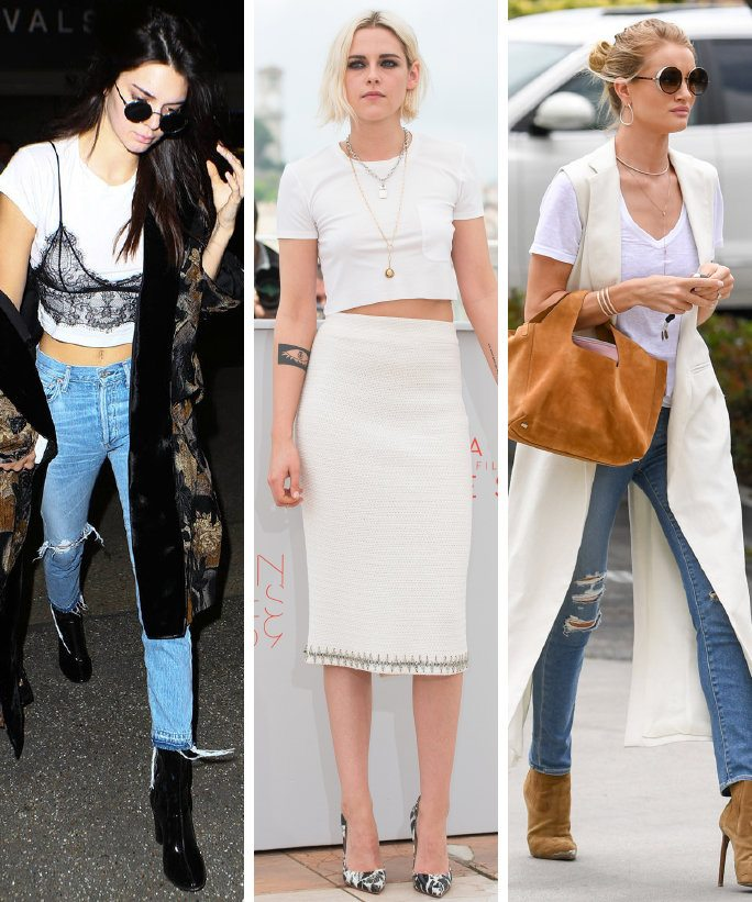 3 Tips for Styling a White T-shirt from Hollywood's Celebs ...