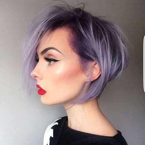 Lilac Colored Short Women Hair