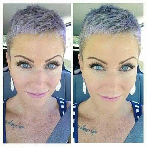 Grey Too Short Haircut