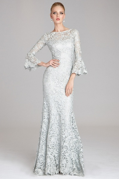 Flare Sleeve Lace Gown
