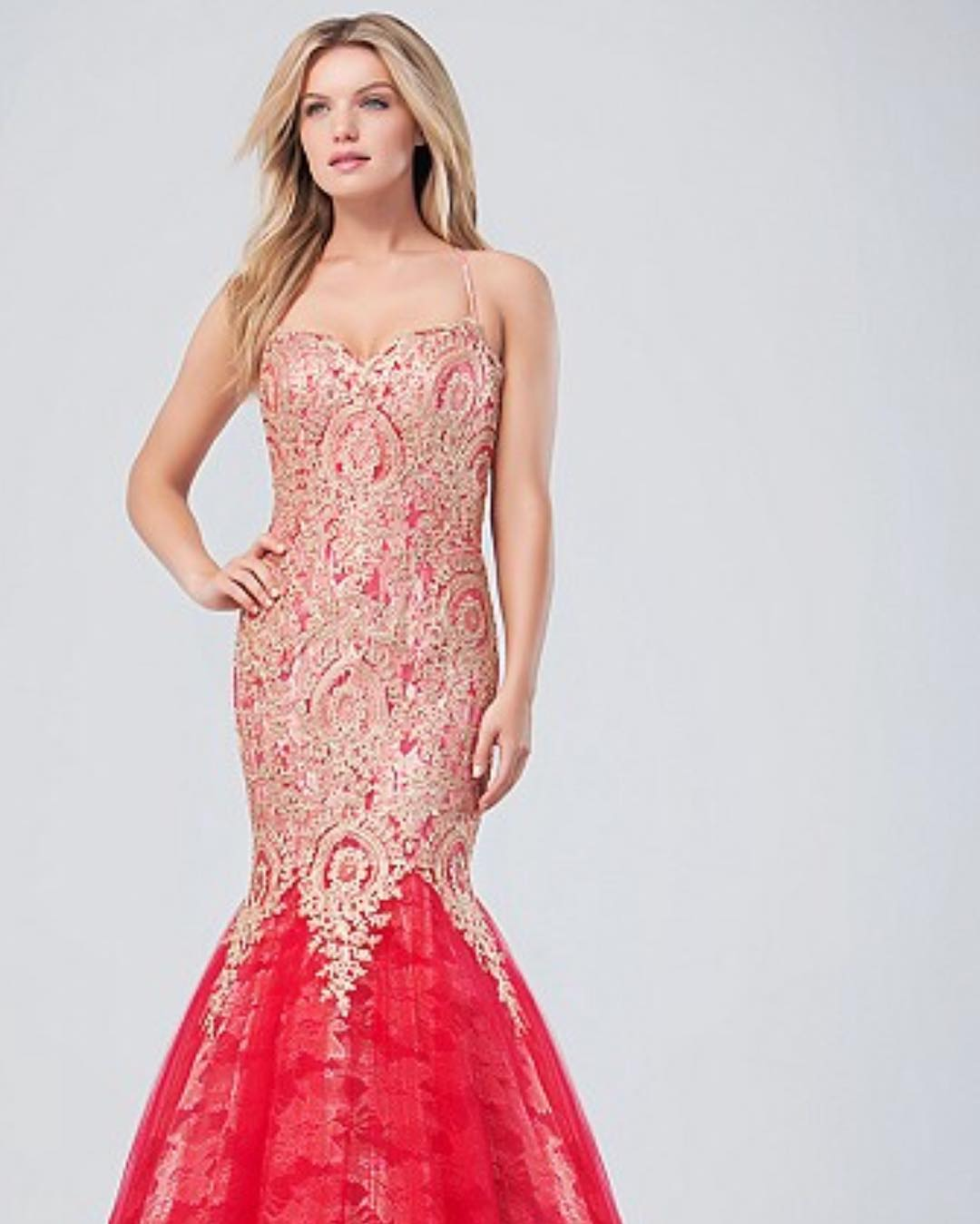 Brilliant Red Evening Dress