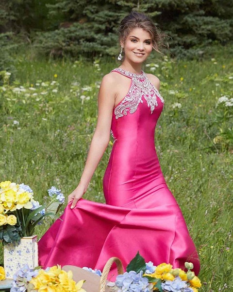 Lovely Pink Dress For Prom