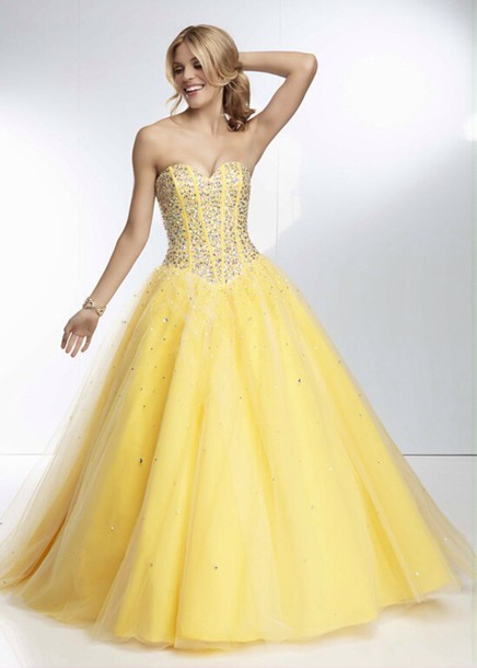Yellow Sparkle Formal Dress