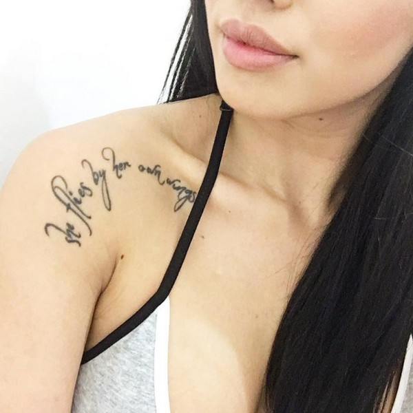 75 unique collar bone tattoos nicestyles. Black Bedroom Furniture Sets. Home Design Ideas