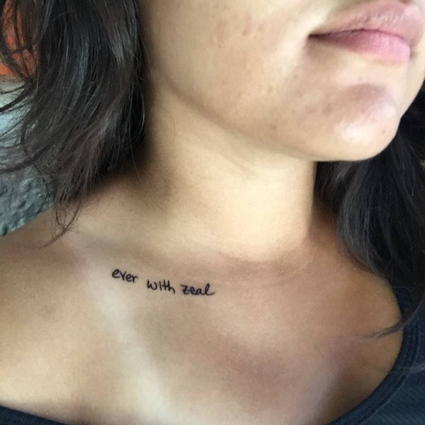 75+ Unique Collar Bone Tattoos