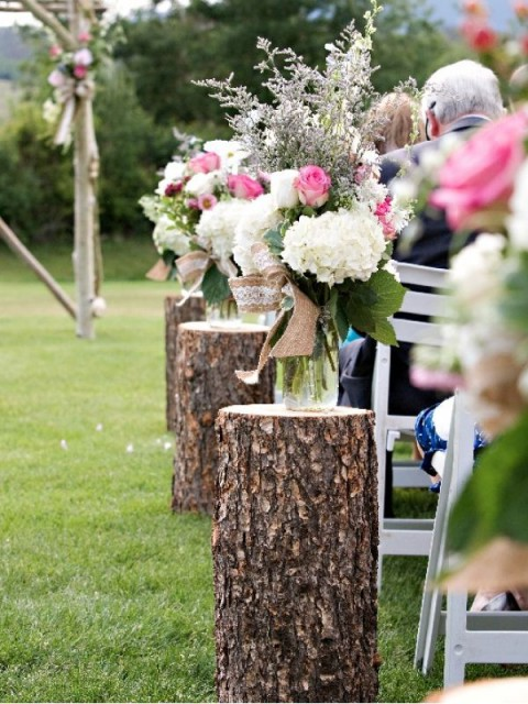 Outdoor Wedding Aisle Decoration