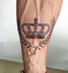Crown Tattoo With A Wreath Of Victory