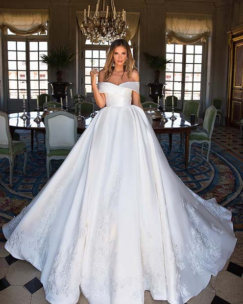 Off the Shoulder Fairy Tale Wedding Dress