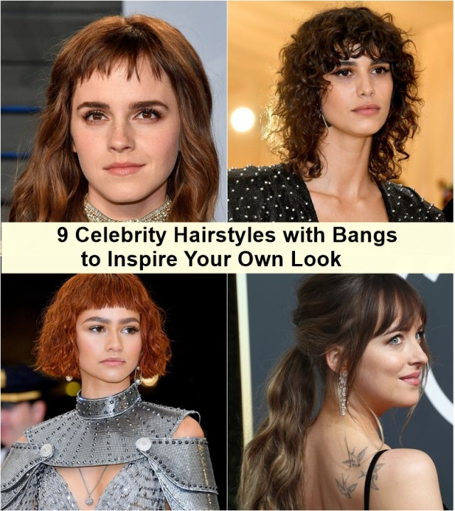 9 celebrity hairstyles with bangs to inspire your own look