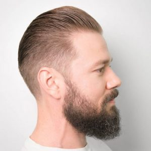 Slicked Back - Taper Haircut Trends