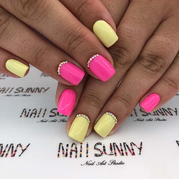Vibrant Mani with Two Colors