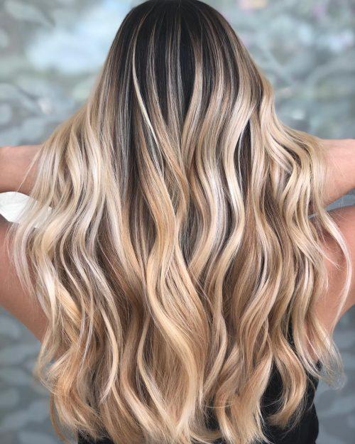 Golden Blonde on Straight Hair
